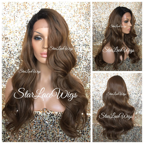 Straight Lace Front Wig Human Hair Blend Light Yaki Bob - Nora