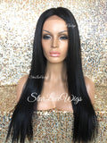 Long Straight Synthetic Lace Front Wig Layered Middle Part - Stella
