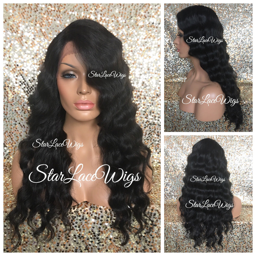 Long Synthetic Body Wave Lace Front Wig - Scarlett