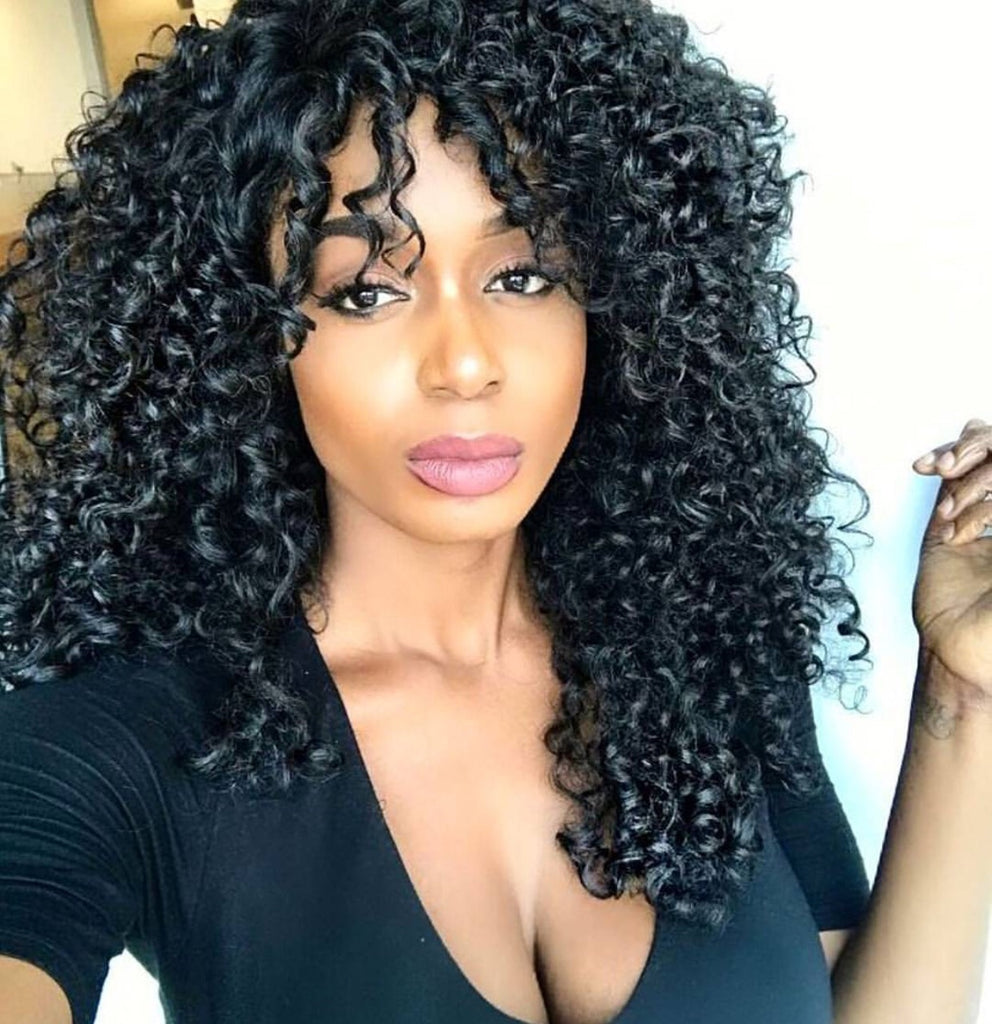 Long Curly Lace Synthetic Front Wig Layered Side Part - Theresa
