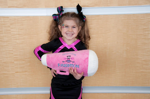 Personalized Cheer Megaphone Pillow for a favorite Cheerleader