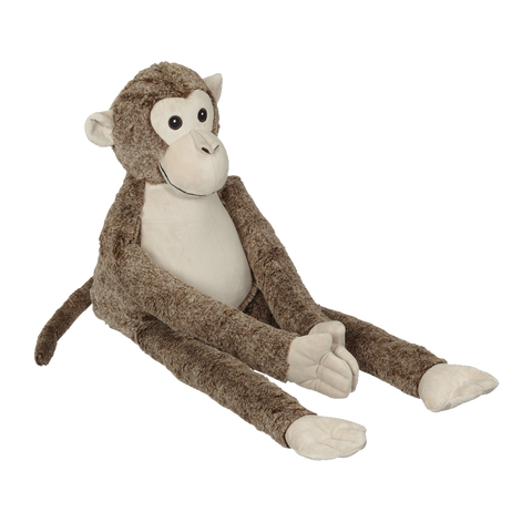 Personalized Lorenzo Long Legs Monkey by Embroider Buddy®, Keepsake, embroidery included, Newborn, Baptism or Baby gift