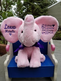 Personalized Elephant by Little Elska®, Keepsake, embroidery included, Newborn, Baptism or Baby gift