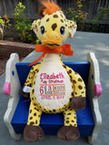 """Baby Cubbies"" the Giraffe from the Signature Collection, a personalized plush stuffed animal keepsake/baby gift"