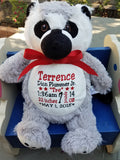 Personalized Lemur by Little Elska®, Keepsake, embroidery included, Newborn, Baptism or Baby gift