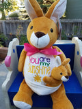 Personalized Kerry Kangaroo by Embroider Buddy®, Keepsake, embroidery included, Newborn, Baptism or Baby gift