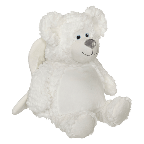 Personalized Bobby Angel Bear by Embroider Buddy®, Keepsake, embroidery included, Newborn, Baptism or Baby gift