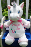 """Baby Cubbies"" ""Starflower"" the unicorn, a personalized plush stuffed animal keepsake/baby gift - Celebrate! With Thread"