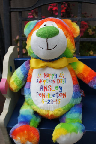 """Baby Cubbies"" ""Cubbyford"" the bear, a personalized plush stuffed animal keepsake/baby gift"