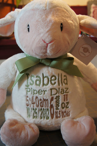 Baby cubbies loverbee lamb a personalized plush stuffed animal baby cubbies loverbee lamb a personalized plush stuffed animal keepsake negle Image collections