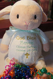 """Baby Cubbies"" Baby Dedication gift, a personalized plush stuffed animal keepsake - Celebrate! With Thread"