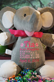 """Baby Cubbies"" ""Elle"" the elephant, a personalized plush stuffed animal keepsake/baby gift - Celebrate! With Thread"