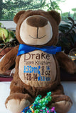 """Baby Cubbies"" ""Cubbyford"" the bear, a personalized plush stuffed animal keepsake/baby gift - Celebrate! With Thread"