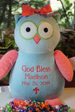 """Baby Cubbies"" Baptismal gift, a personalized plush stuffed animal keepsake - Celebrate! With Thread"