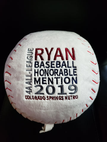 Personalized Baseball by Embroider Buddy®, Keepsake, embroidery included, Newborn, Baptism or Baby gift