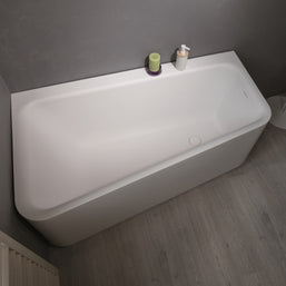 Aquatica Jane Wht Solid Stone Surface Corner Bathtub   Bathtub   Gorgeous  Tub