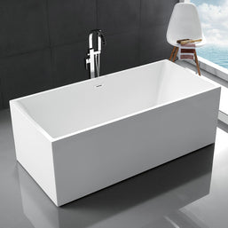 Freestanding Tubs  Gorgeous Tubs - Rectangular freestanding soaking tub
