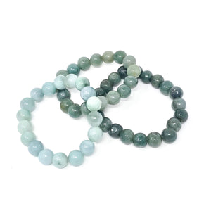 Green Jade Beaded Bracelet