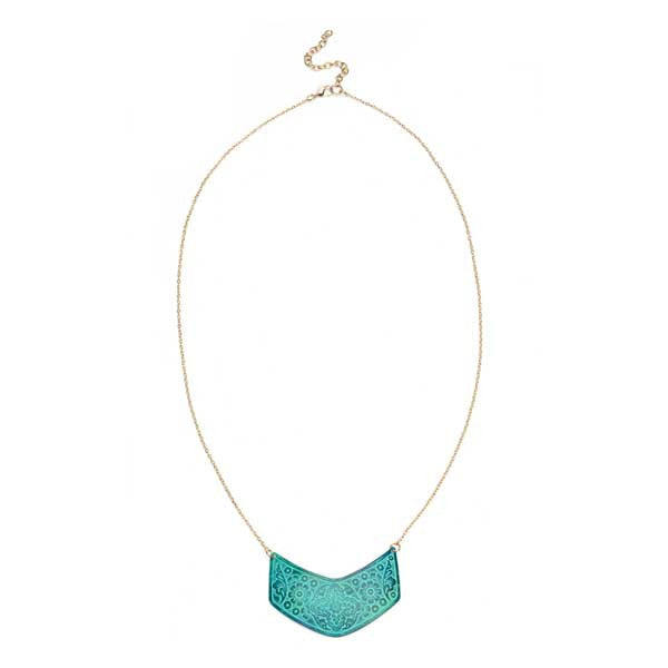 Devika Chevron Pendant Necklace