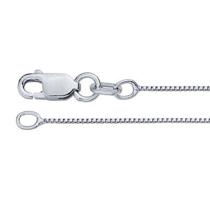 Sterling Silver Rhodium-Plated 0.6mm Box Chain