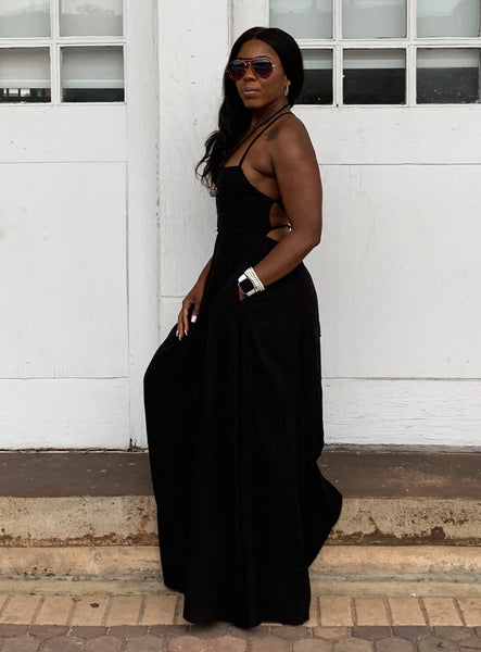 """Summer's Delight-Black"" Maxi Dress"