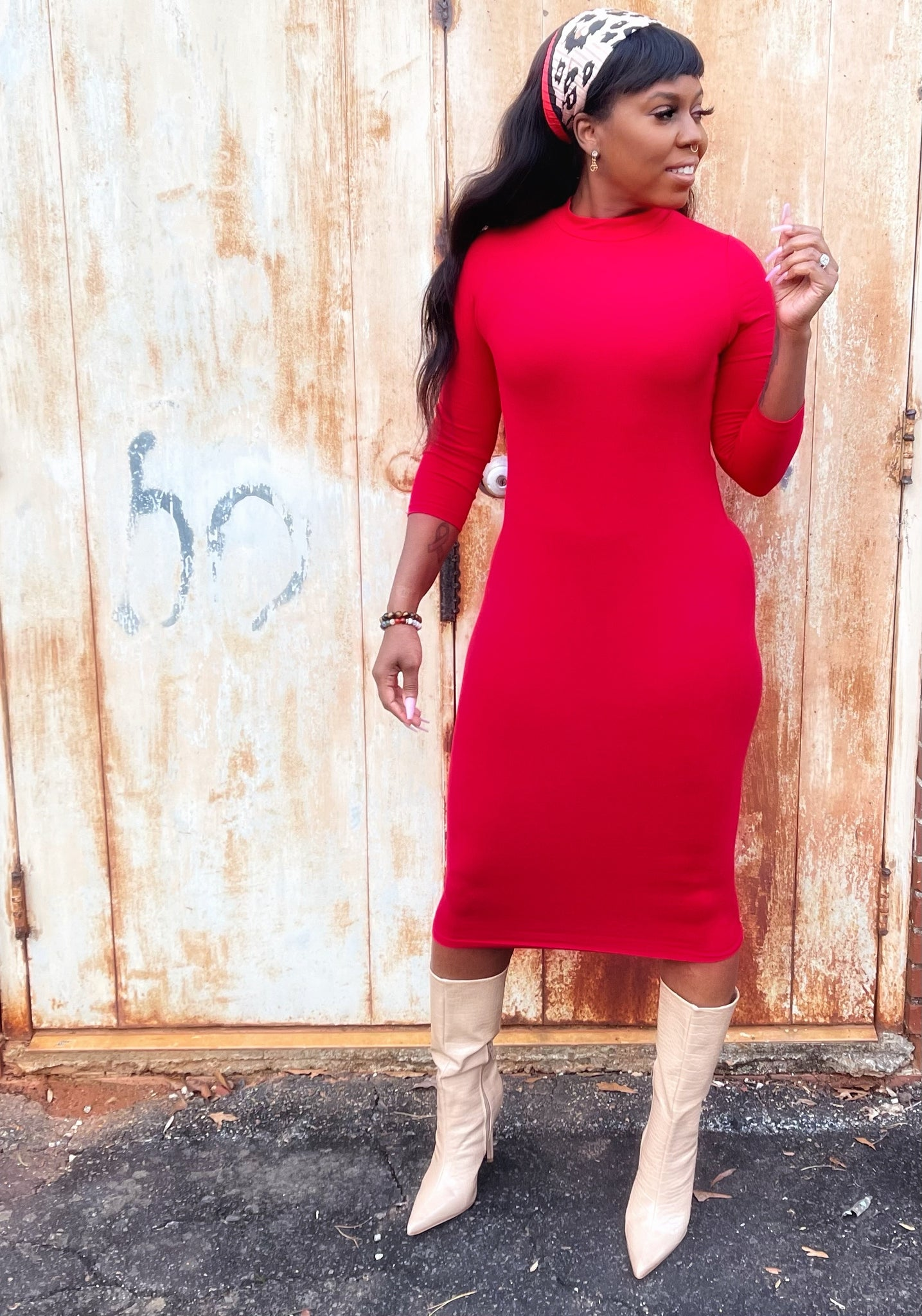 """Valentines Special-Red"" Midi Dress"