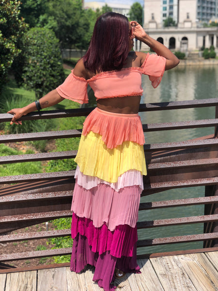 """Colombiana"" Tropical Skirt Set"