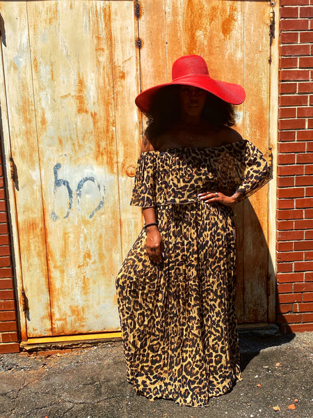 """Cat's Meow"" Leopard Print Maxi Dress"