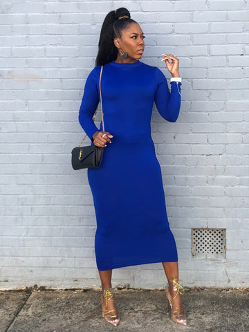 """TMC"" Nipsey Blue Bodycon Dress"