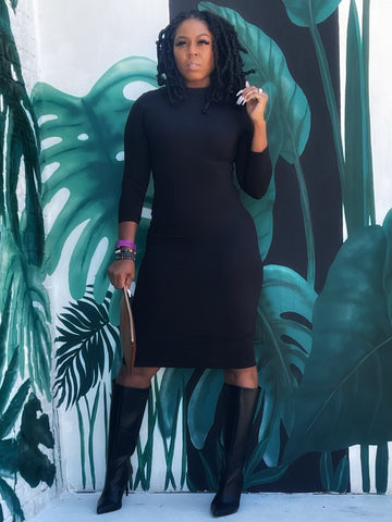 """Valentines Special-Black"" Midi Dress"