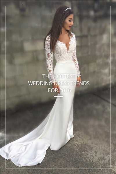 The Hottest Wedding Dress Trends for 2016