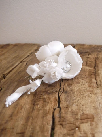 Silk Flowers - handmade silk flowers bridal headpieces, wedding flower crowns handmade in Australia