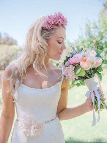Wedding Headpieces Silk Flowers - handmade silk flowers bridal headpieces, wedding flower crowns handmade in Australia