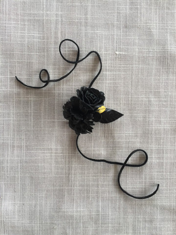 Leather Flowers Fashion Accessories Leather Choker