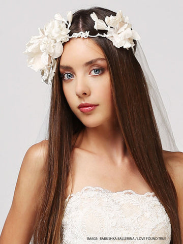 Couture Headpieces Silk Flowers - Purdy in Bloom, handmade in Australia