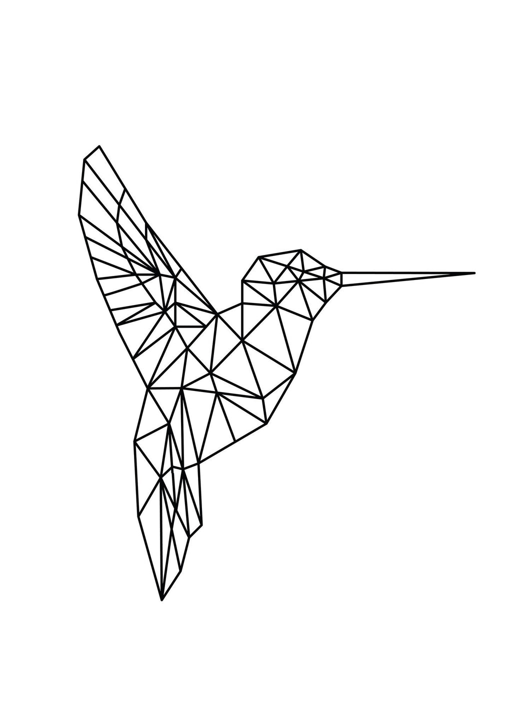 Geo Hummingbird (Facing Right) - foiled