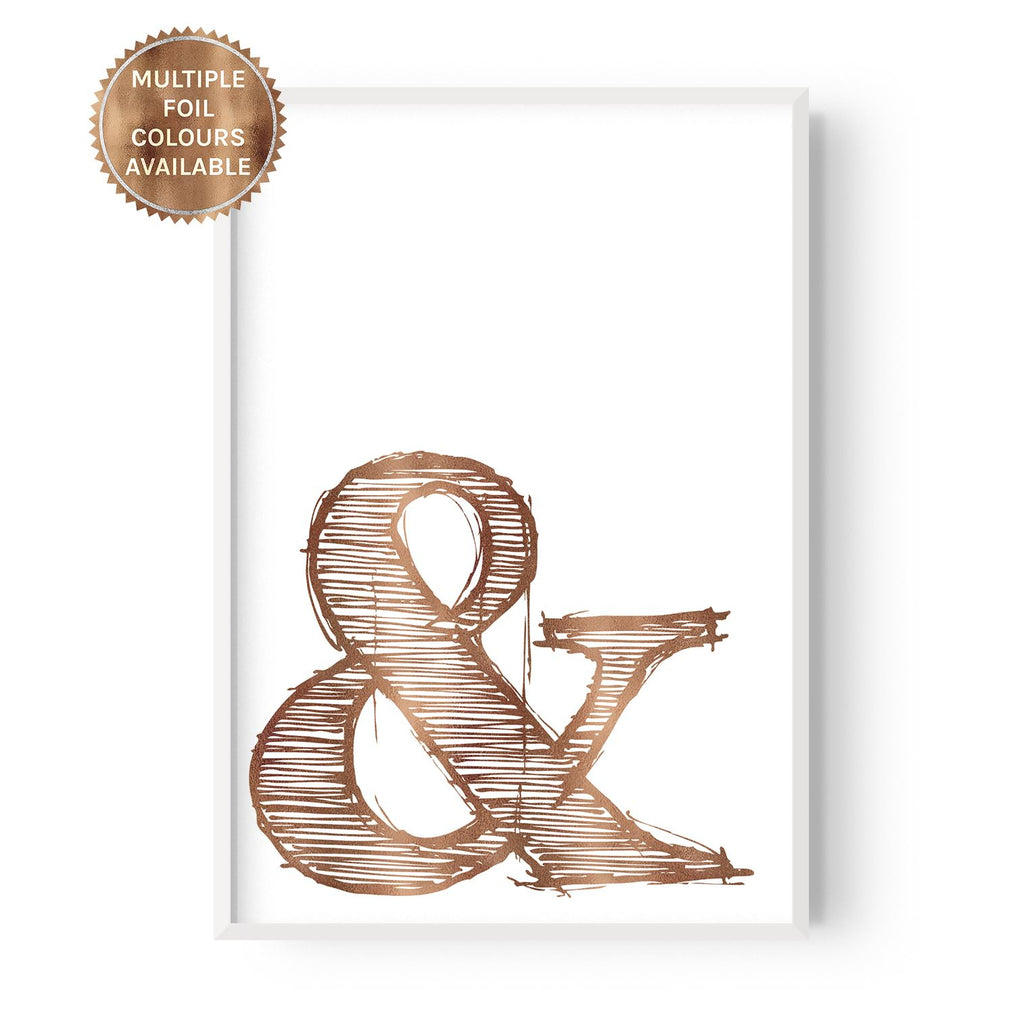 Ampersand - foiled - Hustle Living