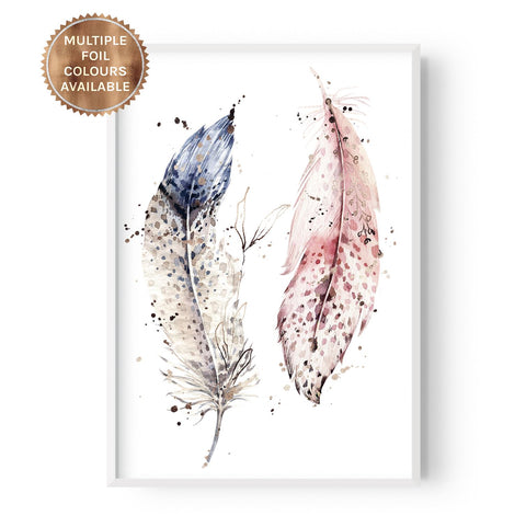 Boho Duo Feathers - Part Foiled - Hustle Living