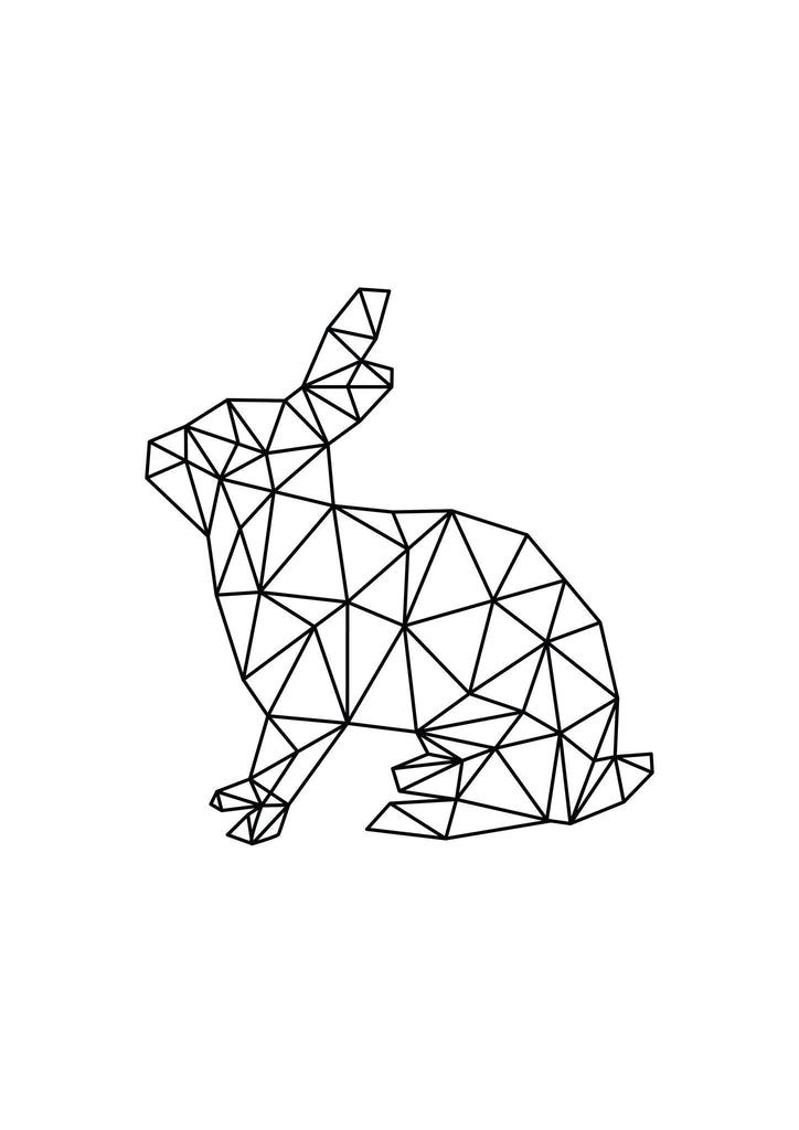 Geo Rabbit - foiled