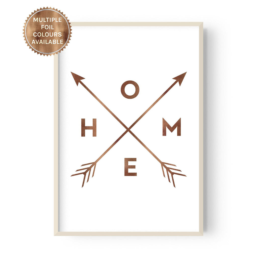Home and Arrows - foiled - Hustle Living
