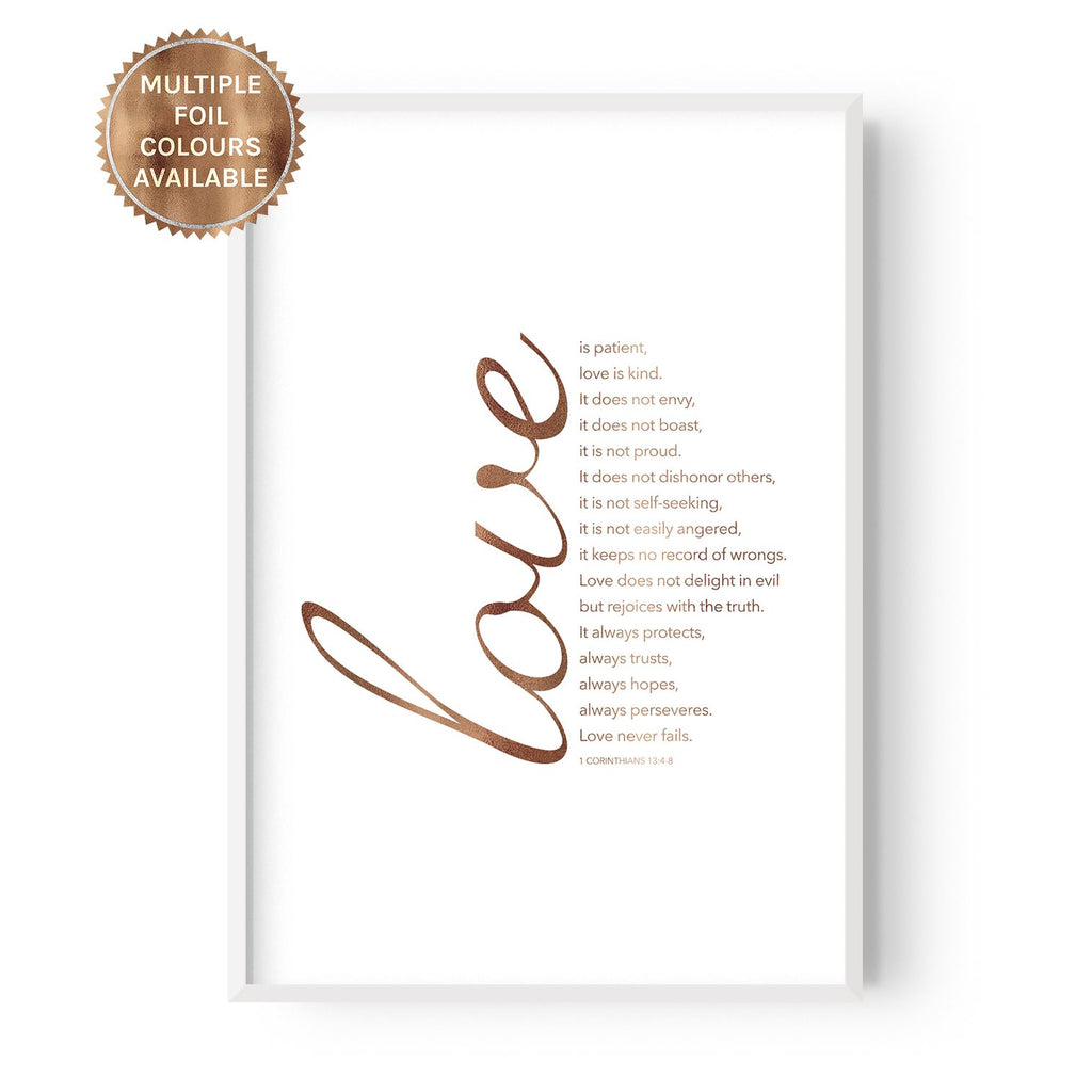 Love is - foiled - Hustle Living