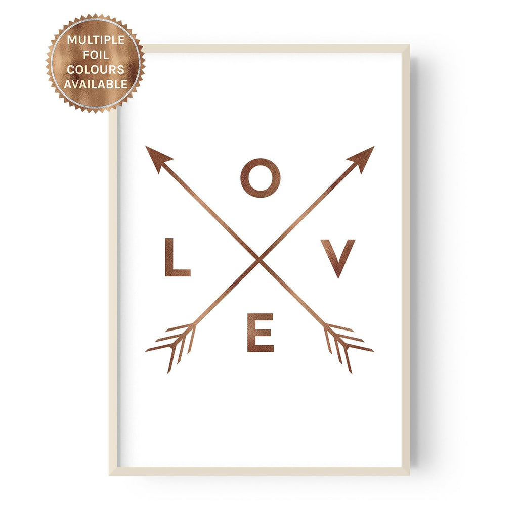 Love and Arrows - foiled - Hustle Living