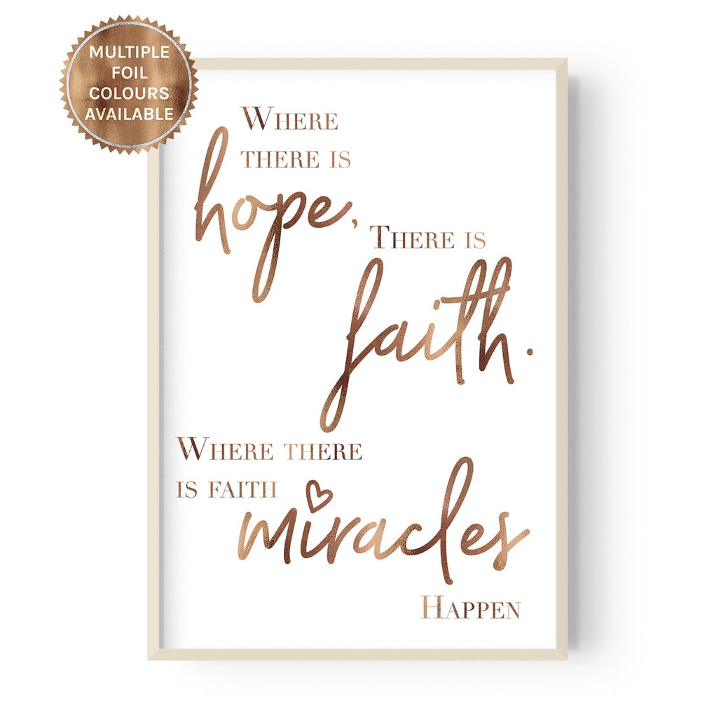 Miracles Happen - foiled - Hustle Living