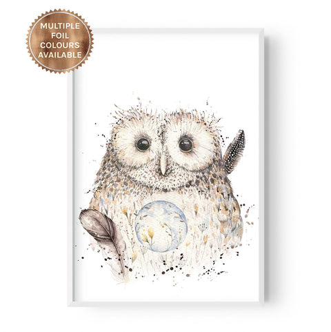 Boho Owl - Part Foiled - Hustle Living