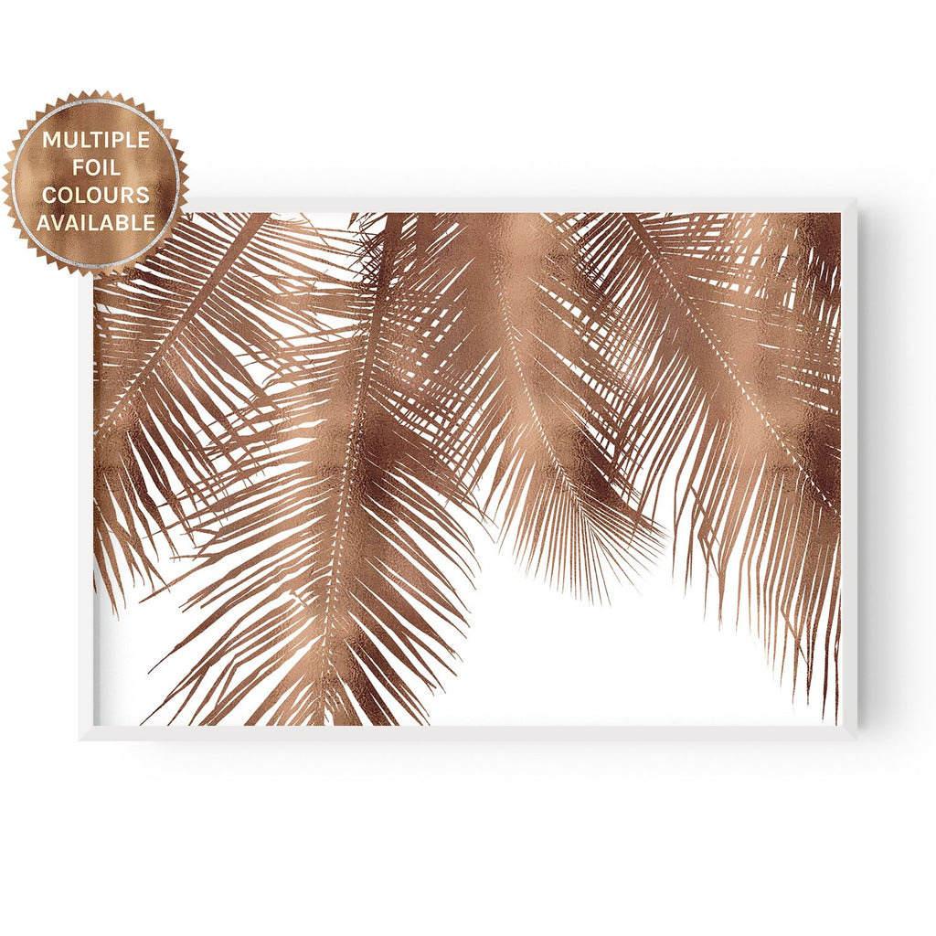 Palm Leaf Silhouette - foiled - Hustle Living