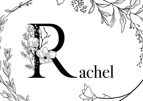 Floral Name - Foiled & Non Foiled