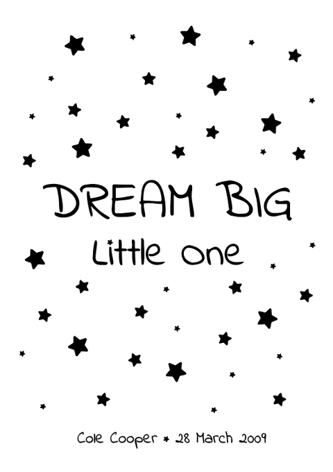 Dream Big Little One - foiled