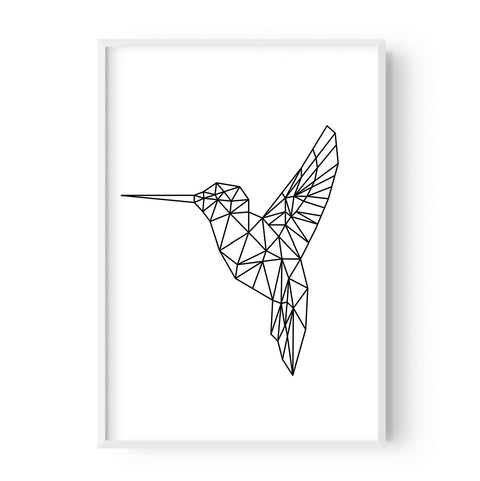 Geometric hummingbird - Hustle Living
