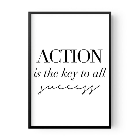 Action is the key - Hustle Living