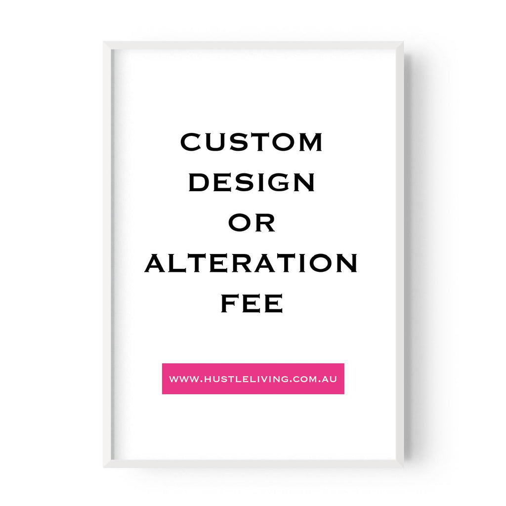 Custom Design Fee $90 - Gold Foil - Ally Selby - Hustle Living